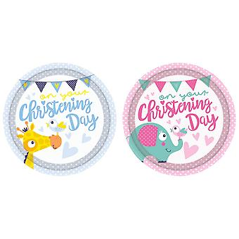 Amscan On Your Christening Day Plates (Pack Of 8)