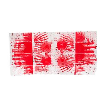 Tablecloth Blood Hands 137 X 274 Cm White / Red