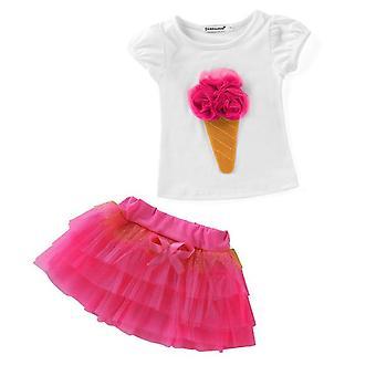 Dziewczyny Moana Letni krótki rękaw top i spódnica -niemowlę