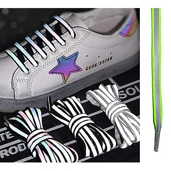 Shoe Laces Luminous Reflective (Green) Glow In The Dark Unisex