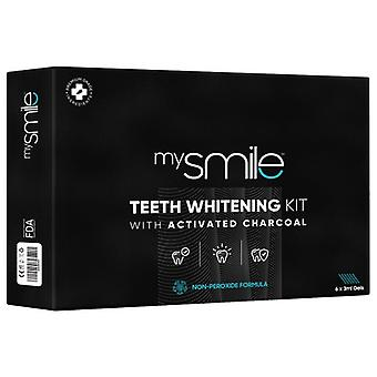 Eco Masters MySmile Teeth Whitening Kit - Brighten Your Smile - Light, Gel, Tray, + Shade Guide
