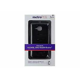 MetroPCS Soft Touch Shield Case for Alcatel One Touch Evolve - Black