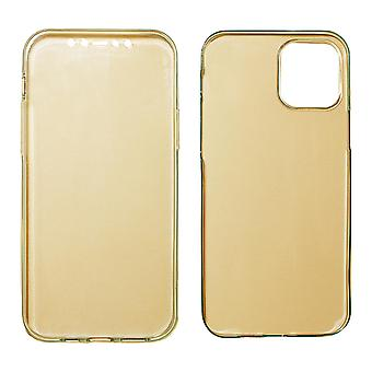 Full Cover kompatibilis az iPhone 12 Pro | Tiszta TPU Gold |