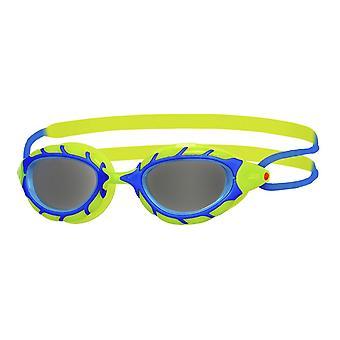Zoggs Predator Junior Swim Goggle - Smoke Lens - Blue/Lime