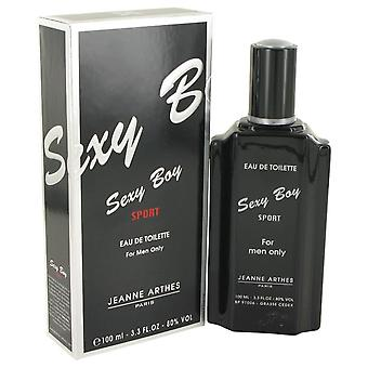 Sexy Boy Sport Eau De Toilette Spray By Jeanne Arthes 3.4 oz Eau De Toilette Spray