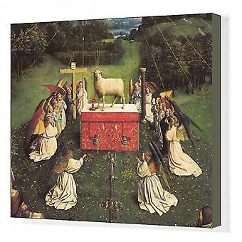 Het Lam Gods of Aanbidding van het Lam Gods. Afdrukken van vakcanvas. EYCK, Jan van (1390-1441);.