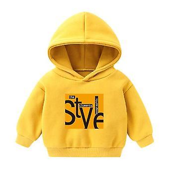 Bebek Casual Sweatshirt, Uzun Kollu Çizgi Film Kapüşonlu Ceket Üstleri