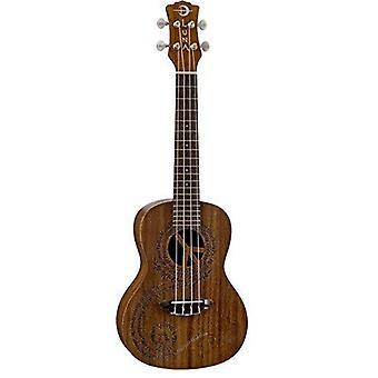Luna maluhia peace concert ukulele with gig bag, satin natural