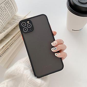 iPhone 12、ミニ、プロ、プロの最大のためのハイブリッド現代のシリコンマット電話ケース