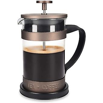 Gerui French Press Coffee Maker - 600ml Stainless Steel Cafetiere Espresso and Tea Maker with Coffee