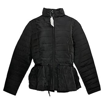 Zuda Women's Quilted Peplum Puffer Jacket Black A384435