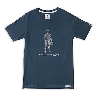 Miesten lyhythihainen T-paita OMP Racing on minun veri tummansininen