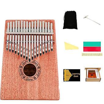 Kalimba tommelfinger piano-musikk instrumentsett med 17 nøkler