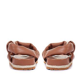 Jones Bootmaker Naisten Mount Hope Nahka Flatform Sandaalit