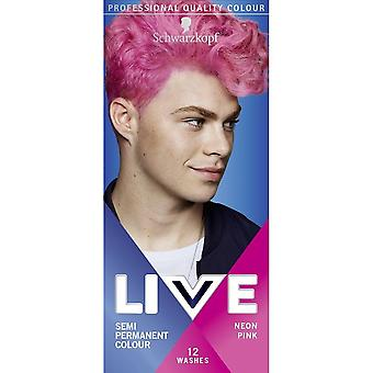Schwarzkopf LIVE UB Mens Hair Colour Dye Neon Pink 093 - Pack of 3