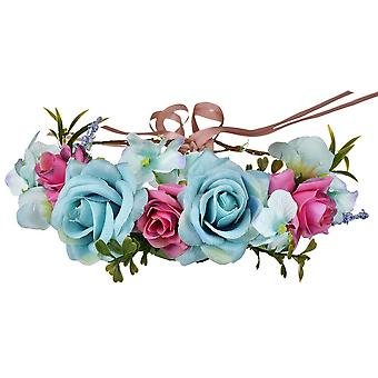Artificial Flowers Wreaths Bride Headdress Garland Wedding Headband