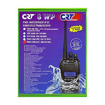 תחנת רדיו ניידת PMR CRT 8WP PMR UHF, IP67 עמיד למים, סריקה, Squelch, Vox, רדיו FM
