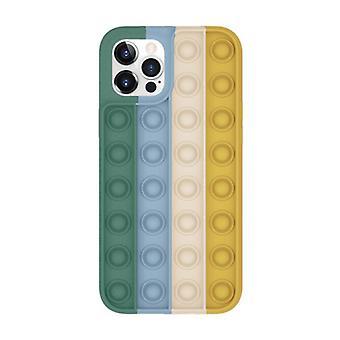 Lewinsky iPhone 12 Pop It Case - Silikon bubbel leksak fall anti stress omslag