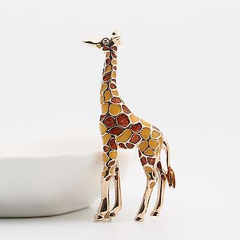 Emaille Giraffe Broschen, süße Tier Brosche Pin, Schmuck