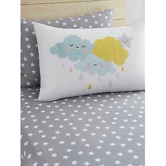 Clouds and Stars Fitted Sheet and Pillowcase Set