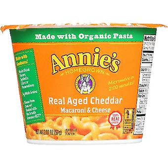 Annie's Homegrown Pasta Cup Aged Chdr, Case of 12 X 2.01 Oz