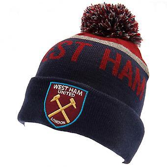 West Ham United FC Unisex Adulto Sombrero de esquí de punto