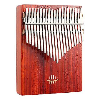 Kalimba Thumb Piano 17 Keys Portable Musical Instrument For Beginners Red