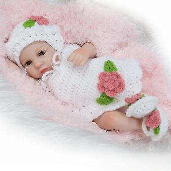 New premie newborn cute small 12inch soft silicone vinyl real soft gentle reborn baby doll christmas gift