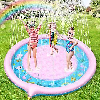 Splash Pad, Anti-Rutsch Spielzeug Sprinkler Play Matte, 170CM Wasserspielzeug Spielmatte, Sommer