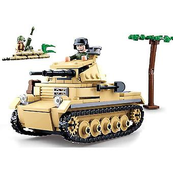 SL95562, WWII - Leichter Dt. Panzer (356 Teile) [M38-B0691], Spielset , Klemmbausteine, Soldaten,