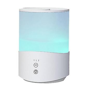 2.5L bedroom humidifier, 7-color night light cold fog humidifier, baby humidifier, 24db, automatic shutdown us plug