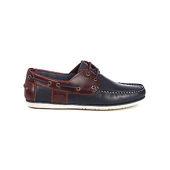 Barbour International Barbour Men's Navy/ Brown Capstan Boat Shoes