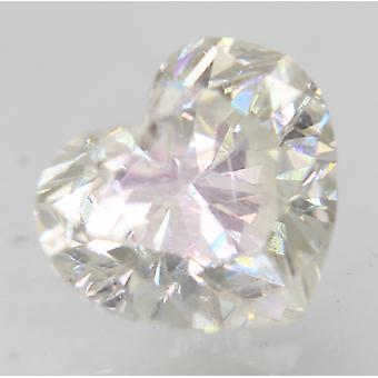 Certificado 0,75 Quilate G Cor VS2 Coração Aprimorado Diamante Solto Natural 5.97x5.23m