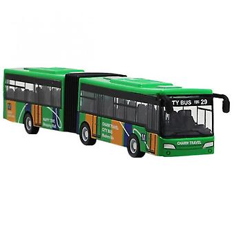 Children's Diecast Model Vehicle Shuttle Bus Car Toys Small Baby Pull Back Toys(Green)