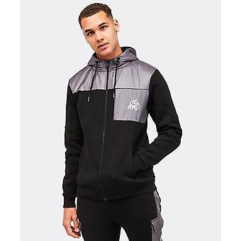 Kings will dream axel fleece zip thru hoodie - black