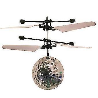 Dzieci Odkryty czujnik ręczny sterowanie LED Flashing Ball helikopter samolot (przezroczysty)
