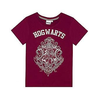 Harry Potter Girls Hogwarts Crest Glitter Pyjama Set