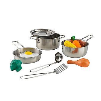 مجموعة تجهيزات طبخ ديلوكس مع الطعام