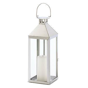 Galleri av ljus rostfritt stål skåror lykta - 15 inches, Pack of 1