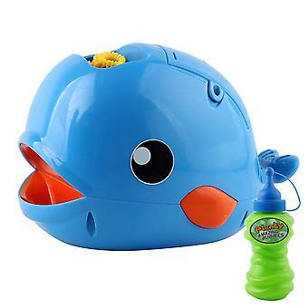 Bubble Machine Chilren Musik Licht Elektrische Bubble Maker Baby Kinder Schwimmseife (Alle Blau)