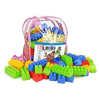 130 Particles Backpack Bag Children Large Particle Building Blocks Baby Educational Early Education Toys