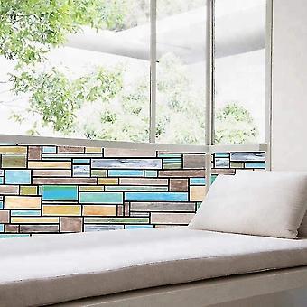 Window films glass film window film electrostatic wall decor glueless glass film painted brick pattern 100x35cm