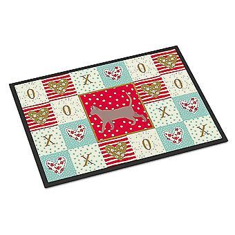 Door mats carolines treasures ck5722mat thai lilac #2 cat love indoor or outdoor mat 18x2