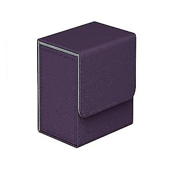 Card games cards box storage for 100+ pieces of trading game cards tcg pokemon ccg mtg yugioh purple