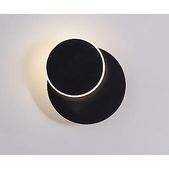 Led-uri sconce forjat din fier pictura rotative Dormitor Noptiera lampa de interior decorare negru