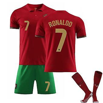 Portugal Heim- und Auswärts nr. 7 Cristiano Ronaldo Trikot Dreiteiliger Anzug-1