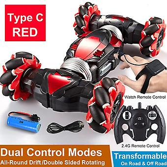 Remote Control Stunt Car Gesture Induction Twisting Off-road Cars Light & Music