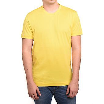 Z Zegna por Ermenegildo Zegna homens colarinho duplo t-shirt amarela