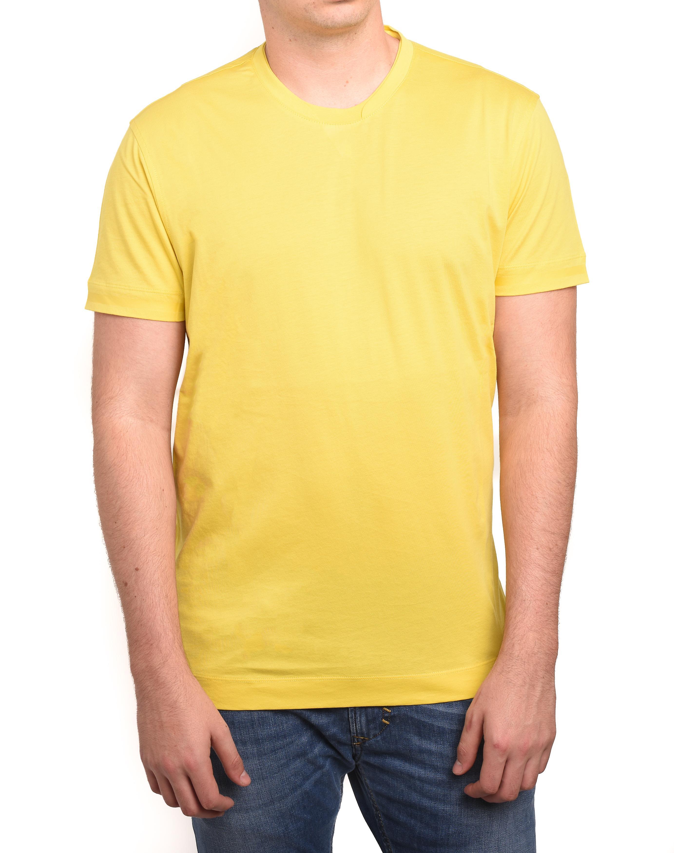 Z Zegna by Ermenegildo Zegna Men Double Collar T-Shirt Yellow