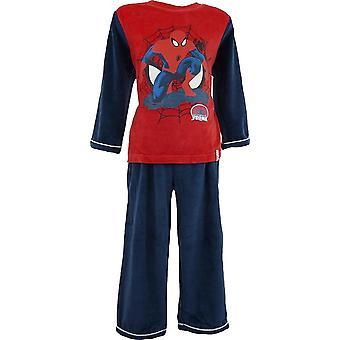 Chłopcy Marvel Spiderman Velvet Piżama długi rękaw z skarpety | W polu